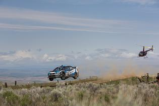 SRTUSA #75 in flight during the 2016 Oregon Trail Rally
