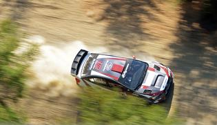 SRTUSA #199 seen from above during pre-event testing for the Oregon Trail Rally