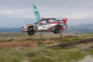 Pastrana gets airborne at the Oregon Trail Rally.