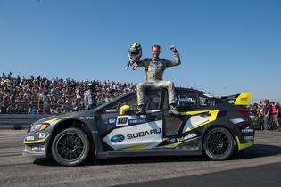 Patrik Sandell celebrates his 3rd place finish at GRC.