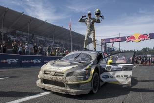 Patrik Sandell celebrates his 3rd place finish at GRC Seattle