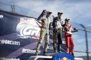Patrik Sandell on the podium at GRC Seattle