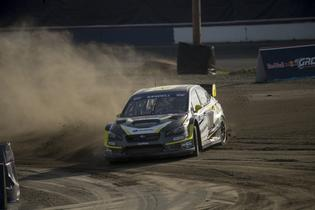 Patrik Sandell slides his Subaru with precision at GRC Seattle