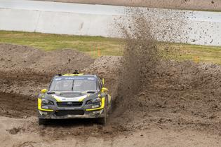 Patrik Sandell slides through the rough dirt at Memphis GRC.