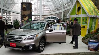 Subaru partners with Cornell Lab of Ornithology at the 2015 Philadelphia Flower Show.