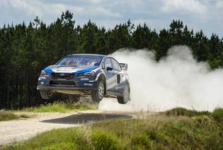 Subaru driver Sverre Isachsen tests his WRX STI rallycross Supercar for the 2016 Red Bull GRC season.