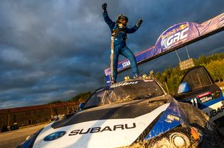 Sverre Isachsen claimed the first Red Bull GRC victory for Subaru with his WRX STI