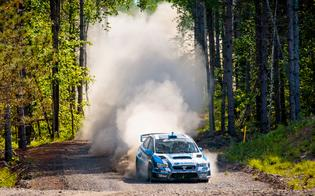 The 2015 Subaru WRX STI blasts through the forest