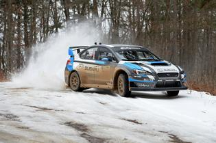 The 2015 WRX STI rally car of David Higgins was flawless at Rally in the 100 Acre Wood.