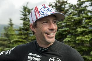 Travis Pastrana at the Mt Washington Hillclimb. Photo Credit: Lars Gange / Subaru Rally Team USA