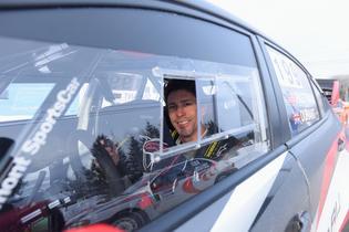 Travis Pastrana at the wheel of his 2017 Subaru WRX STI at Rallye Perce Neige