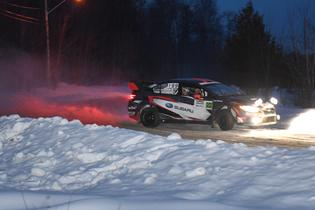 Travis Pastrana flat out at Rallye Perce Neige 2017