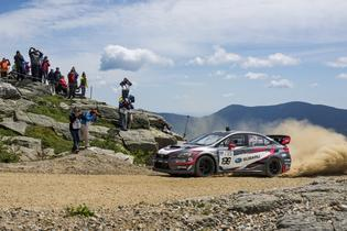 Travis Pastrana has set a new record at the Mt. Washington Hillclimb in his Subaru WRX STI. Photo Credit: Ben Haulenbeek / Subaru Rally Team USA