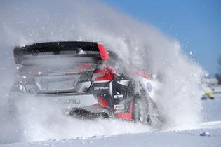 Travis Pastrana tests his 2017 Subaru WRX STI in the snow