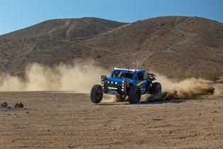 The Crosstrek Desert Racer completes pre-event testing in Barstow, California in preparation for the 2019 Baja 500.