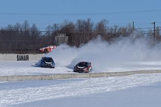 David Higgins and Travis Pastrana side by side at a recent snow test