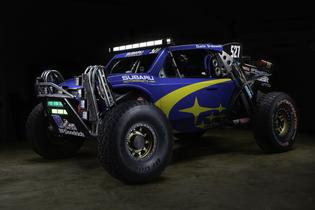 The Crosstrek Desert Racer is a Class 5 Unlimited off-road racing buggy powered by a 300-horsepower SUBARU BOXER engine.
